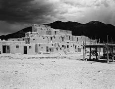 Taos pueblo building Stock Photos