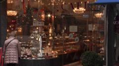 Viennese cafe - K.U.K Konditorei L. Heiner in Kartnerstrasse, Vienna Stock Footage