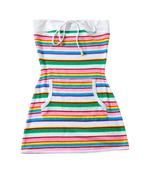 Sailor stripes strapless summer toweling mini dress Stock Photos