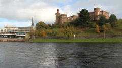 River Ness and Inverness Castle Stock Footage