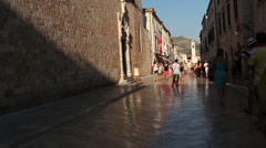 Tourists Walking in Dubrovnik, Croatia Stock Footage