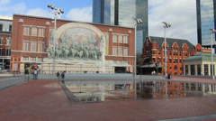 The New Sundance Square in Downtown Fort Worth 1 Stock Footage
