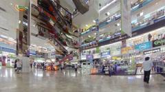Bangkok - apr 14: customer walking inside of mbk shopping center on apr 14, 2 Stock Footage