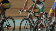 Cycling Track Velodrome Training Stock Footage
