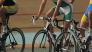 Stock Video Footage of Cycling Track Velodrome Training