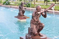 kwame nkrumah memorial park fountain - stock photo