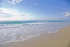 sunny day at the beach - stock photo