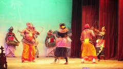 Kandy, sri lanka - apr 17: dancers perform traditional kandyan dance on apr 1 Stock Footage