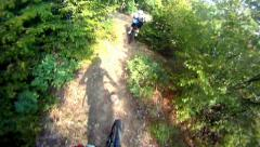 Hd: extreme sport race cycling - stock video Stock Footage