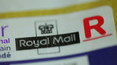 Royal mail british postal service 1 Stock Footage