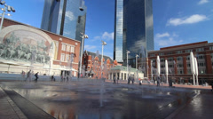 The New Sundance Square in Downtown Fort Worth 4 Stock Footage