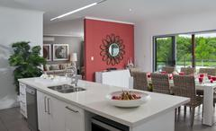 Kitchen in new modern townhouse Stock Photos