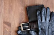 Stock Photo of leather accessories