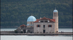 Our Lady of the Rocks, island Stock Footage