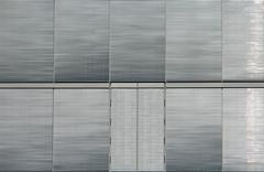 Stock Photo of Silver window shutters
