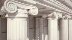 Marble Columns. Loopable - stock footage