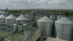Tanks for the storage of grain granary 2 Stock Footage