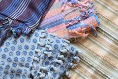 Oriental scarfs Stock Photos