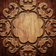 Carved wooden pattern Stock Illustration