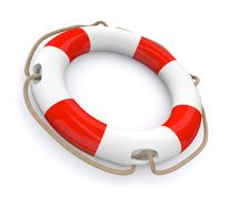 lifesaver - stock illustration