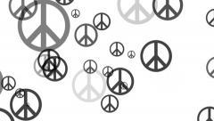 Falling Peace Symbols, animation Stock Footage