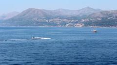 Boat and Jet Ski of the Coast of Croatia - stock footage