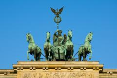 Quadriga on the Brandenburger Tor - stock photo