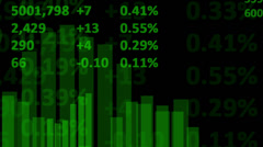 Stock Market - Abstract Business, Closeup Stock Footage