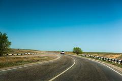 road  dividing line - stock photo