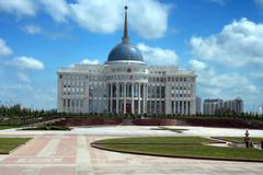 presidential palace in astana - stock photo