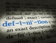 Stock Illustration of Dictionary - Definition - Blue On BG