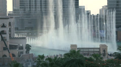 Dubai Fountain Stock Footage