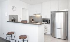 Stock Photo of modern white kitchen