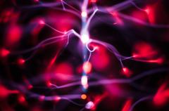 Science abstract: plasma gas and traces pattern Stock Illustration