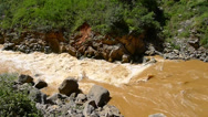 Stock Video Footage of Roaring river in the border of Sichuan and Yunnan province, China