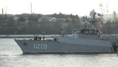 "Ukrainian corvette ""Ternopil"" Stock Footage"