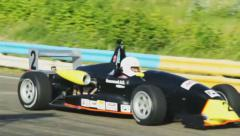 Formula 1 racing cars race begins, cars start off , click for HD - stock footage
