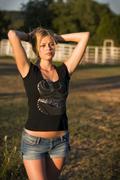 Teenage country girl Stock Photos