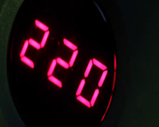 Digital timer countdown on UPS device, normal voltage., click for HD Stock Footage