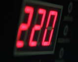 Stock Video Footage of Digital timer countdown on UPS device, normal voltage., click for HD