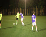 Stock Video Footage of Youth playing football. Pass, shot on goal. Amateur team soccer., click for HD