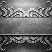 Metal Plate with carved pattern Stock Illustration