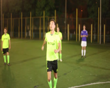 Soccer player strikes ball with a head (Header)., click for HD Stock Footage