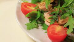 a salad plate - stock footage