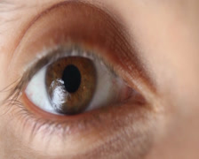 Eye Blinks Macro, click for HD Stock Footage