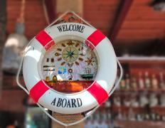 Ring buoy  in kafe Stock Photos