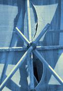 construction site scaffolding fastener - stock photo