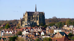 Arundel Cathedral & Town Stock Footage