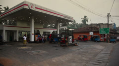 Gasoline station in Tangalle Stock Footage
