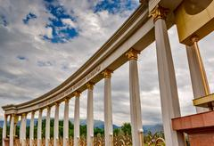architecture colonnade - stock photo